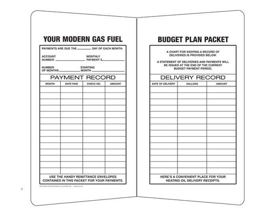Picture of #26A12 Budget Packet for Propane