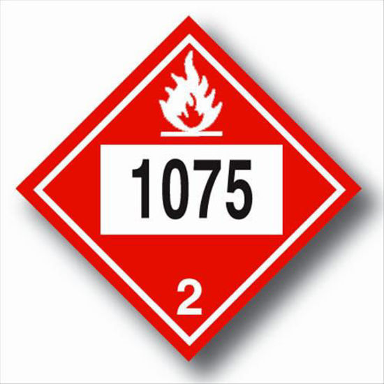 Picture of PROPANE PLACARDS VINYL; SELF-ADHESIVE